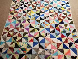 Multicolored quilt 7  by 6