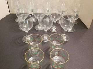 Sets of 12 wine glasses with for Christmas Sorbet glasses