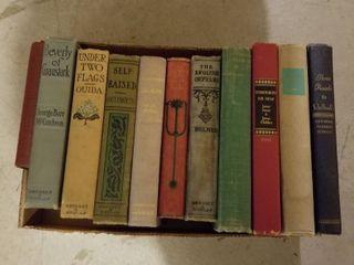 Assorted antique vintage books