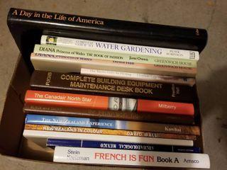 Assorted books travel