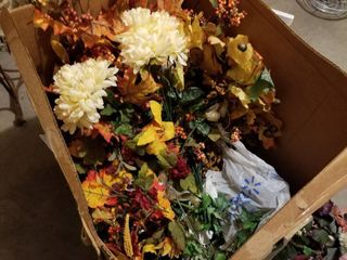 large box of floral stems