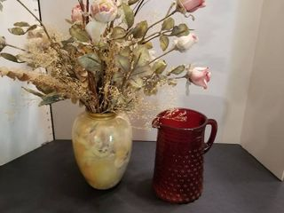 1 vase and 1 pitcher
