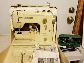 Bernina minimatic sewing machine and Singer attachment
