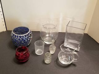 Assorted vases and decor