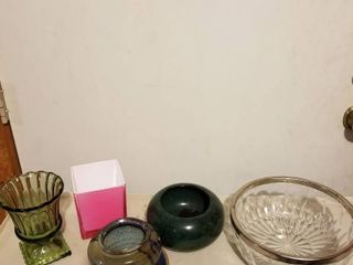 Vases  pots and bowl