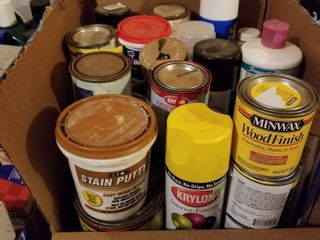 Stain  spray paint and grout cleaner