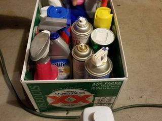 Assorted household chemicals