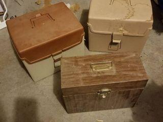 Storage boxes set of 3