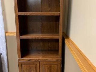 Bookcase shelving unit 77 by 30 by 16