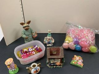 An assortment of Easter items