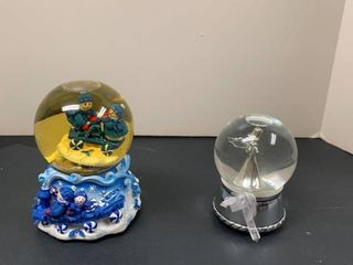 Two snow globes