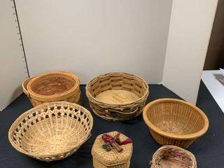 Set of six baskets
