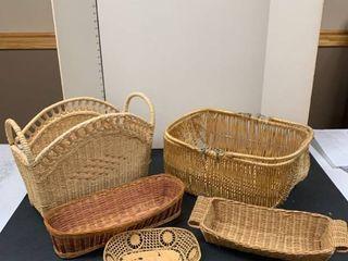 Set of five baskets