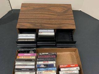 Assorted cassettes and cassette holder