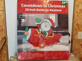 led Santa on Airplane