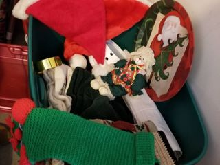 Holiday linens and stockings