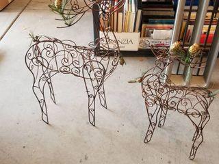 Metal reindeers