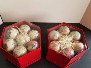 2 boxes of Christmas balls