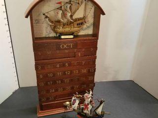 The Santa Maria calendar and a ship