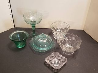 Assorted candy dishes