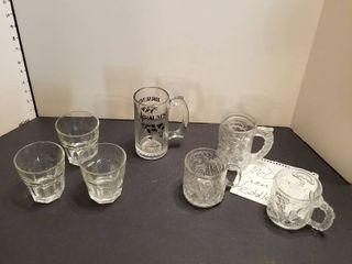 Set of 3 McDonald s glasses  Braums mug and 3 rocks glasses