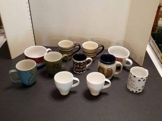 An assortment of mugs