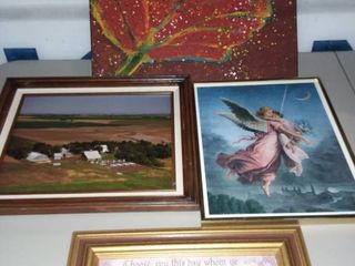Assorted Framed Wall Art lot of 4