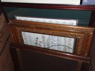 Various large Picture Frames and Framed Wall Decor