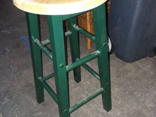 Metal and Wood Barstool 24 x 11 5 x 11 5 in