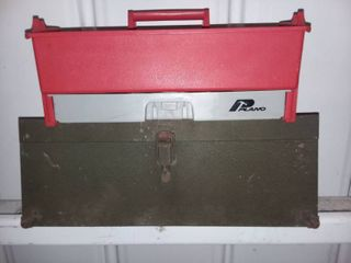 Kennedy Metal Toolbox with Plano Toolbox Tray