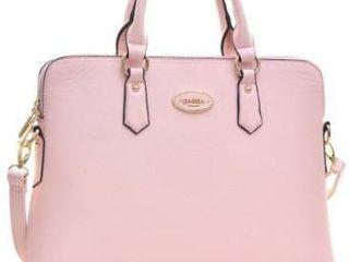 Dasein Slim  Rolled Handle  Removable Strap Briefcase Satchel Handbag