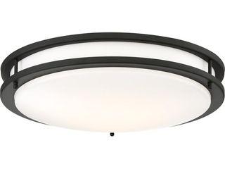 Nuvo lighting 62 1438 Black Glamour 24  Wide led Flush Mount Bowl Ceiling Fixture