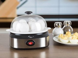 Multi Function Electric Egg Cooker with 7 Egg Capacity and Automatic Shut Off by Classic Cuisine