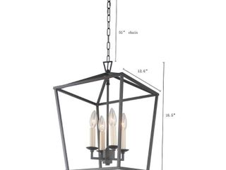 4 light Caged Chandelier in Aged Iron Finish   Aged Iron Finish   Aged Iron Finish Retail 169 49