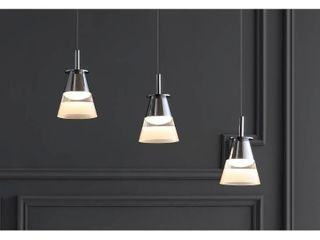 Alain 19 5  3 light Cascading Integrated lED Cluster Pendant by JONATHAN Y Retail 199 49