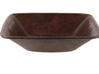 Handmade Designer Series Hammered Copper Bathroom Sink  Mexico  Retail 115 99