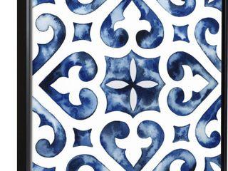 Cobalt Tile VI Framed Print   Blue Retail 102 99