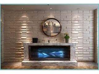 3D Plant Fiber Wall Panels Contemporary Michael Design  Set of 10  Retail 87 49