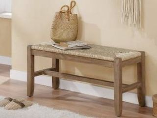 The Gray Barn Enchanted Acre 40 inch Wood Bench with Rush Seat Retail 131 99