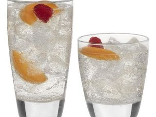 libbey Classic 16 Piece Glass Tumbler and Rocks Set