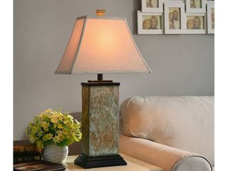 Copper Grove Hersey Natural Slate 3 way 29 inch Table lamp  missing lamp shade