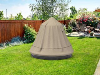 Budge Waterproof Fountain Cover  NeverWet Mojave  Black Ivory   30 l x 30 W x 48 H