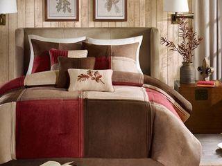 Home Essence Warren 7 Piece Microsuede Comforter Set