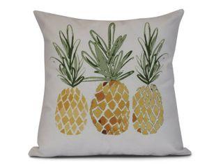 3 Pineapples  Geometric Print Outdoor Pillow