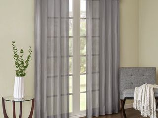 Home Essence Avery Solid Crushed Window Panel Pair