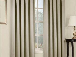 Sun Zero Grant 54  x 63  Rod Pocket Top Curtain Panel