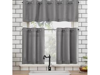 Dylan 54  x 36  Textured Valance and Tiers Set
