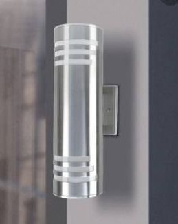 2 light Outdoor Wall Sconce Cylinder UP Down light Outdoor Armed Sconce