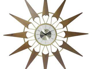 31  Starburst Wall Clock Gold   Infinity Instruments
