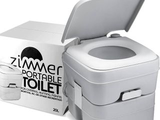 Comfort Portable Toilet 5 Gallon Capacity  RV Toilet With Detachable Tanks  Easy To Use for Camping Toilet or Travel Retail 78 48